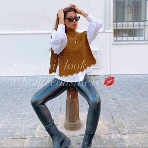 ZARA Textured Knit Vest